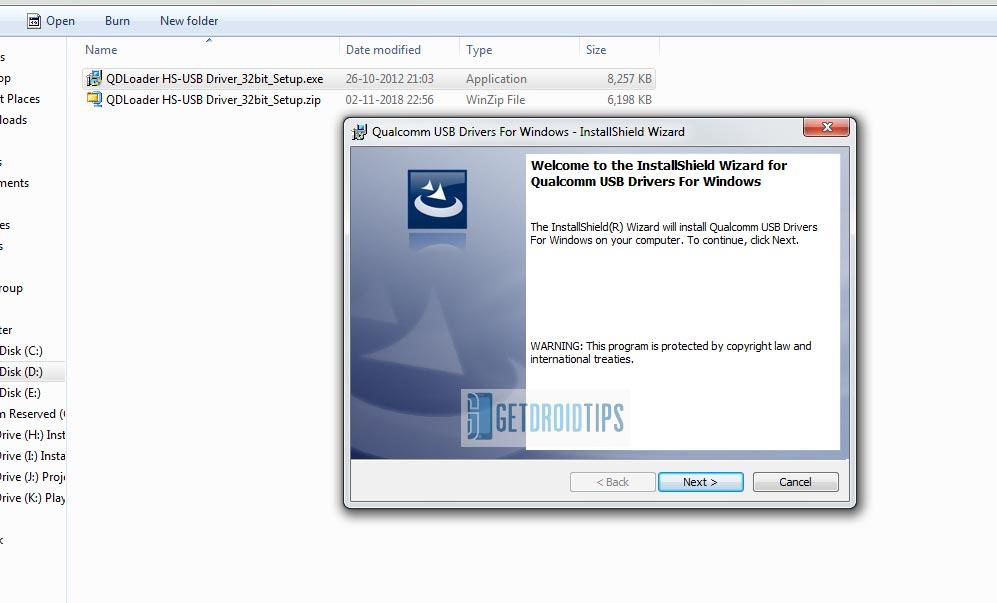 Download Qualcomm QDLoader HS-USB Driver
