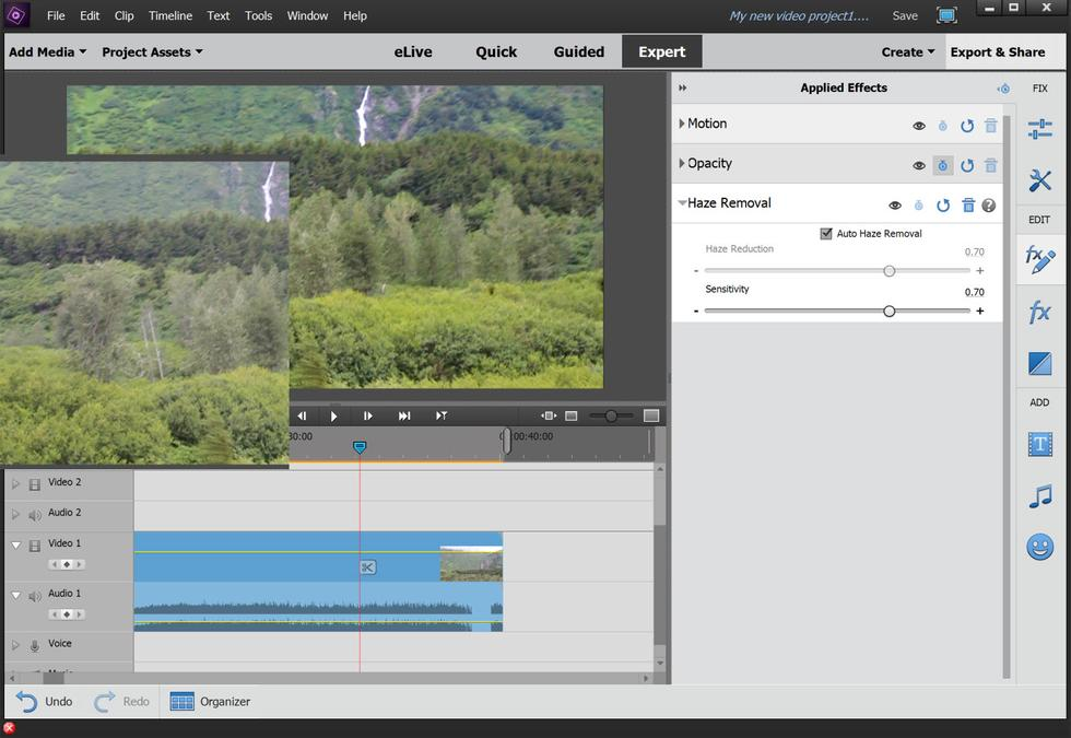 Dehaze Adobe Premiere Elements