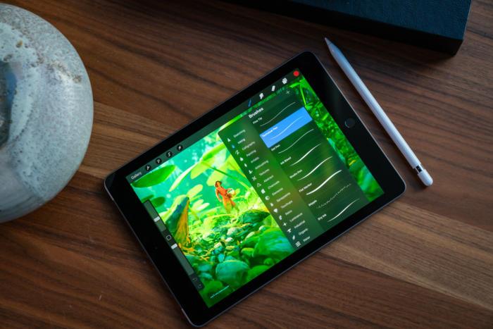 Procreate on 9.7-inch iPad