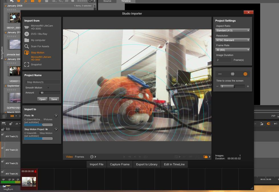 Stop Motion in Pinnacle Studio 20 Ultimate