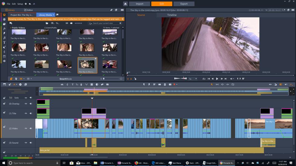 Pinnacle Studio Edit Interface