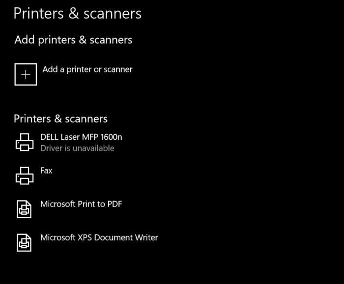 no printer driver Windows 10 S