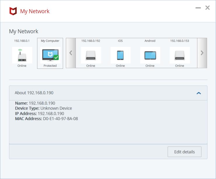 McAfee AntiVirus Plus My Network
