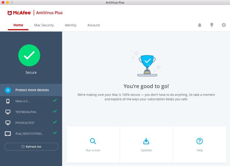 McAfee AntiVirus Plus for macOS