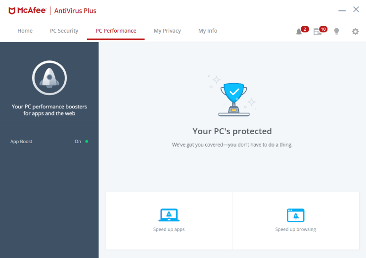 McAfee AntiVirus Plus PC Boost