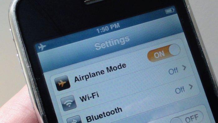 Turn on Airplane mode