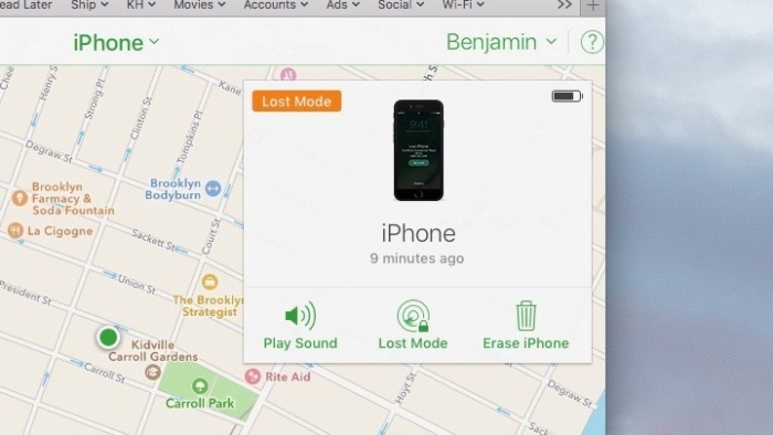 Put your missing iPhone in
