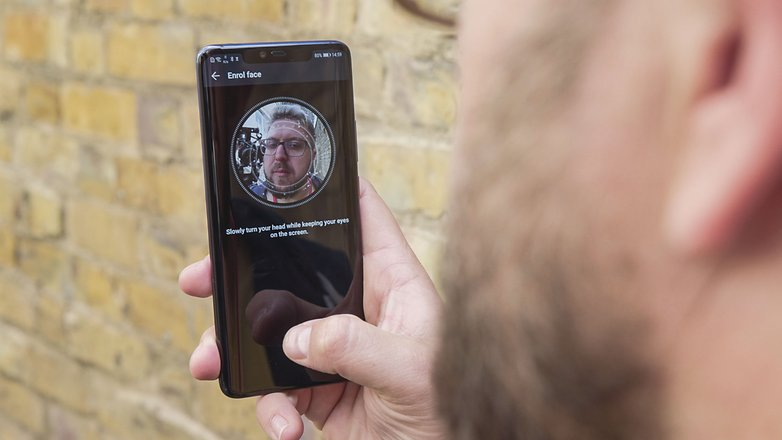 AndroidPIT huawei mate 20 pro face scanner
