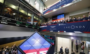 Aston Martin is floated on the London Stock Exchange earlier this week.