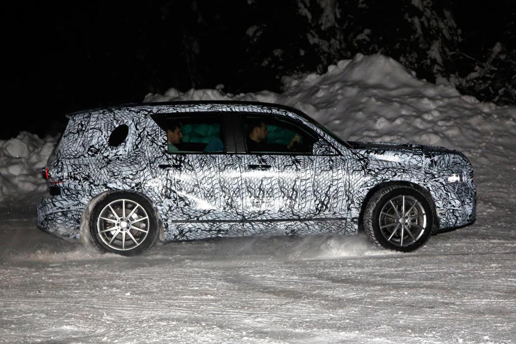 New Mercedes GLB - side profile