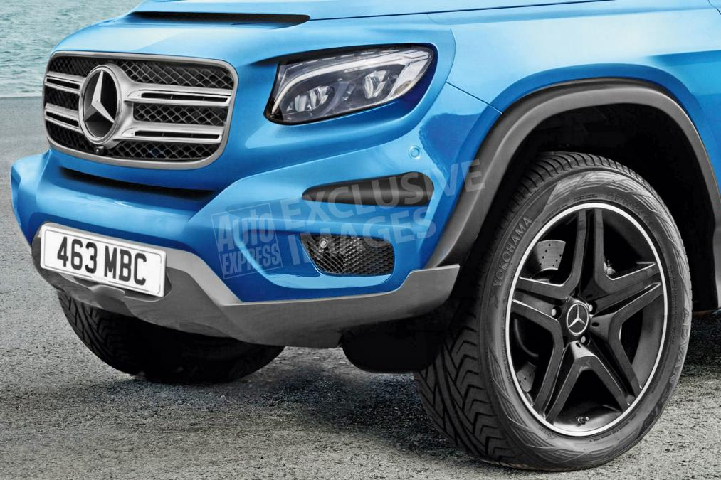 Mercedes GLB - exclusive image front detail