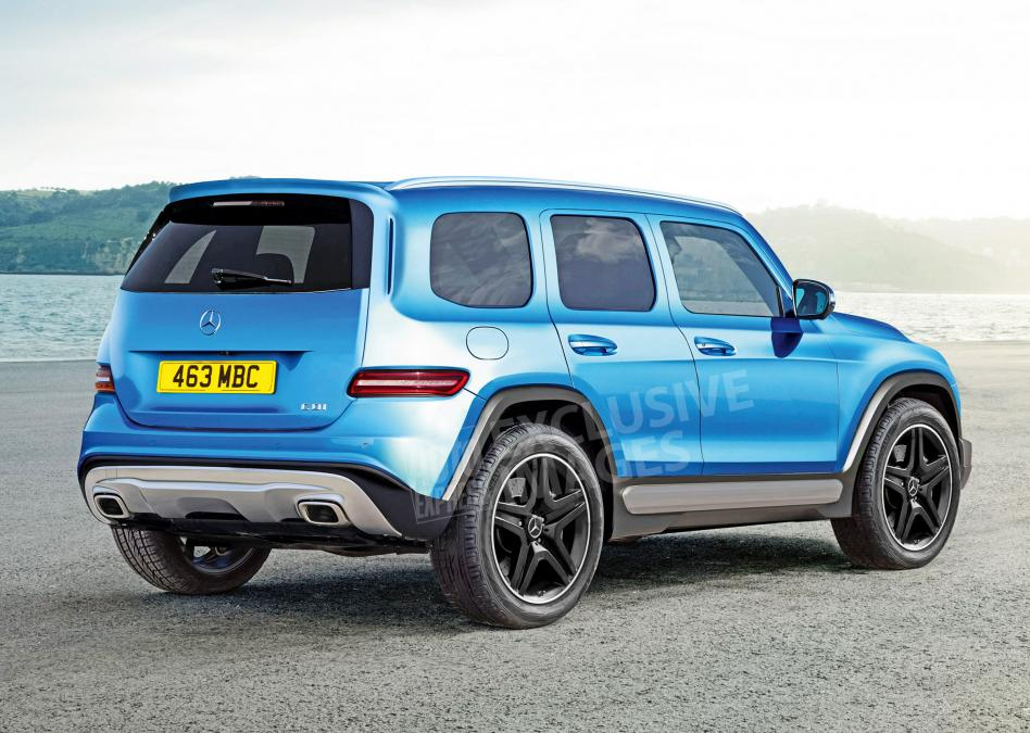 Mercedes GLB - exclusive image rear