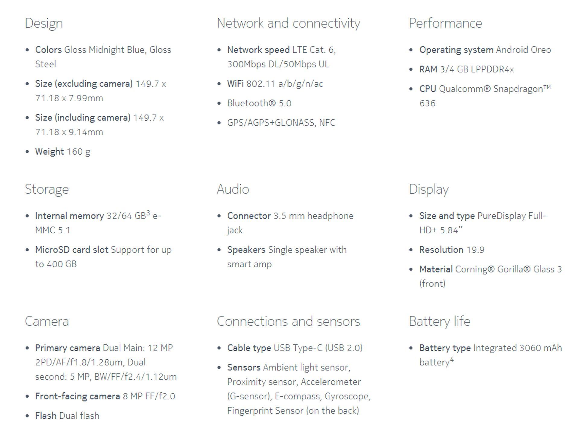 Nokia-7.1-Specs-sheet