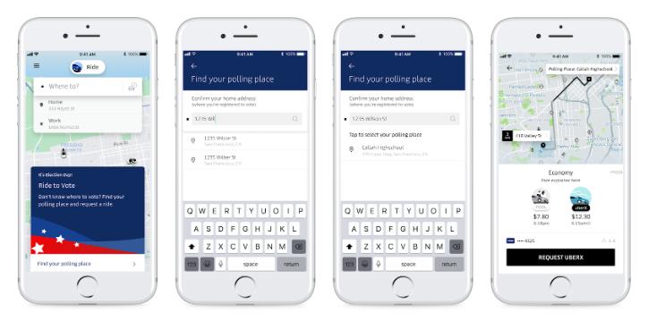 Uber election ride-sharing
