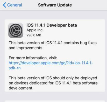 Download iOS 11.4.1 Beta 1