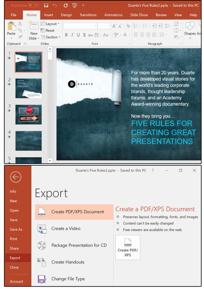pp11 file export create pdf