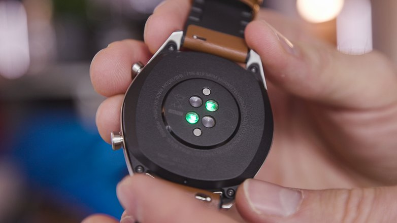 AndroidPIT huawei watch rs hr sensor