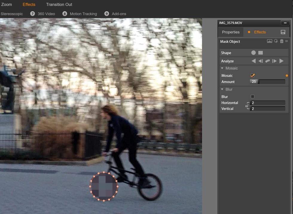 Motion Tracking in Pinnacle Studio 20 Ultimate