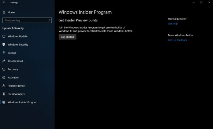 Windows 10 19H1 preview builds