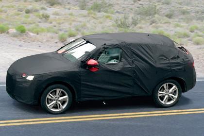Audi Q4 Spies - side