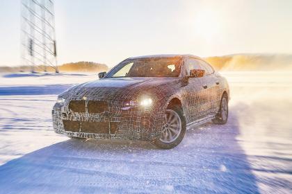 BMW i4 - official spy shot drifting