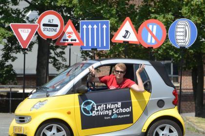 Left hand driving school