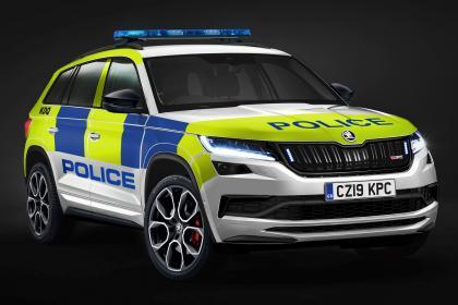 Skoda Kodiaq vRS police car