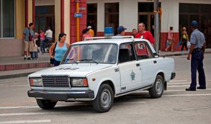 Lada Riva police car