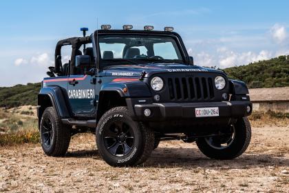 Jeep Wrangler police car