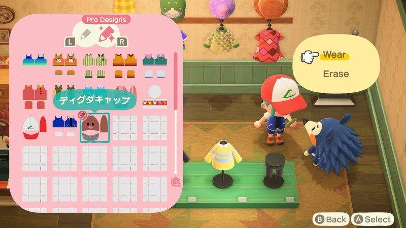 Animal Crossing New Horizons Custom Designs Wear Diglett Hat