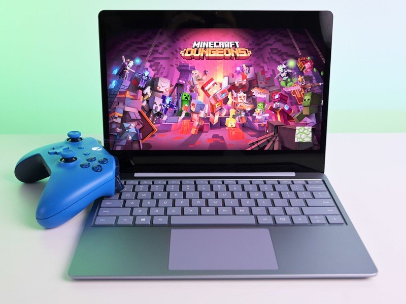 Surface Laptop Go Minecraft Dungeons