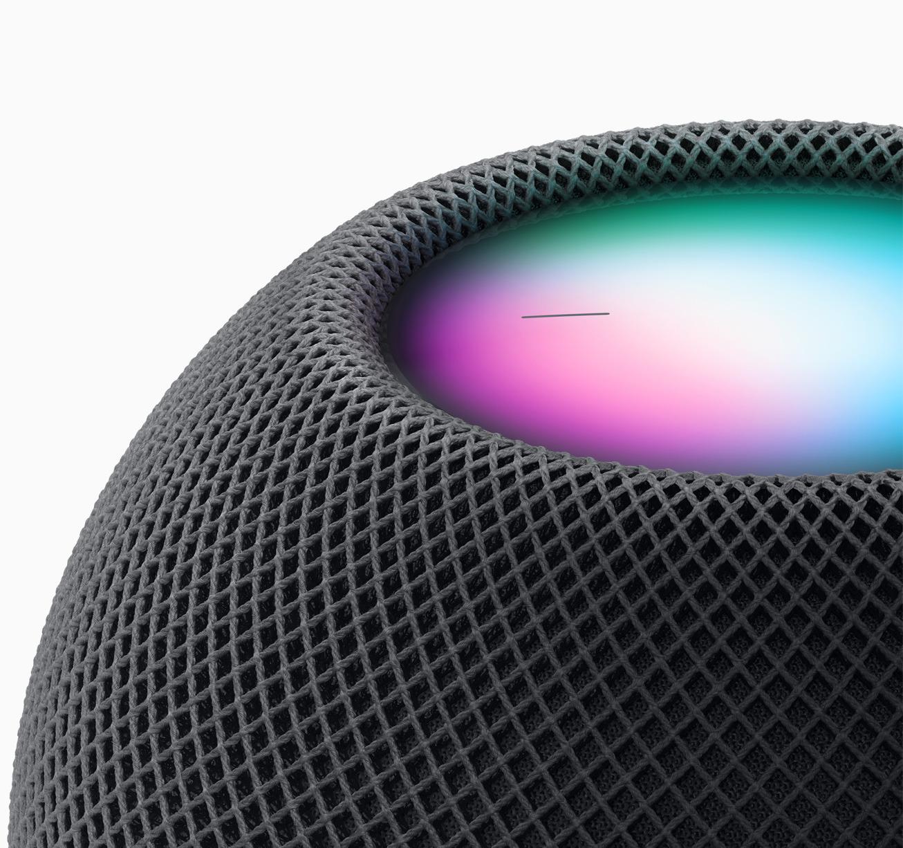 Press and hold on the top of HomePod mini to invoke Siri