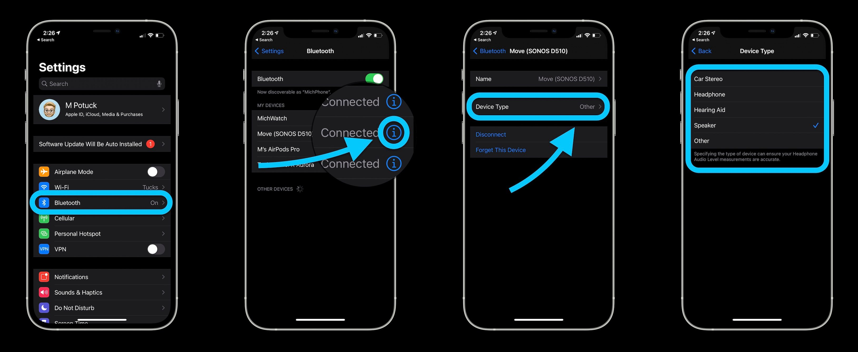 How to label Bluetooth devices on iPhone and iPad