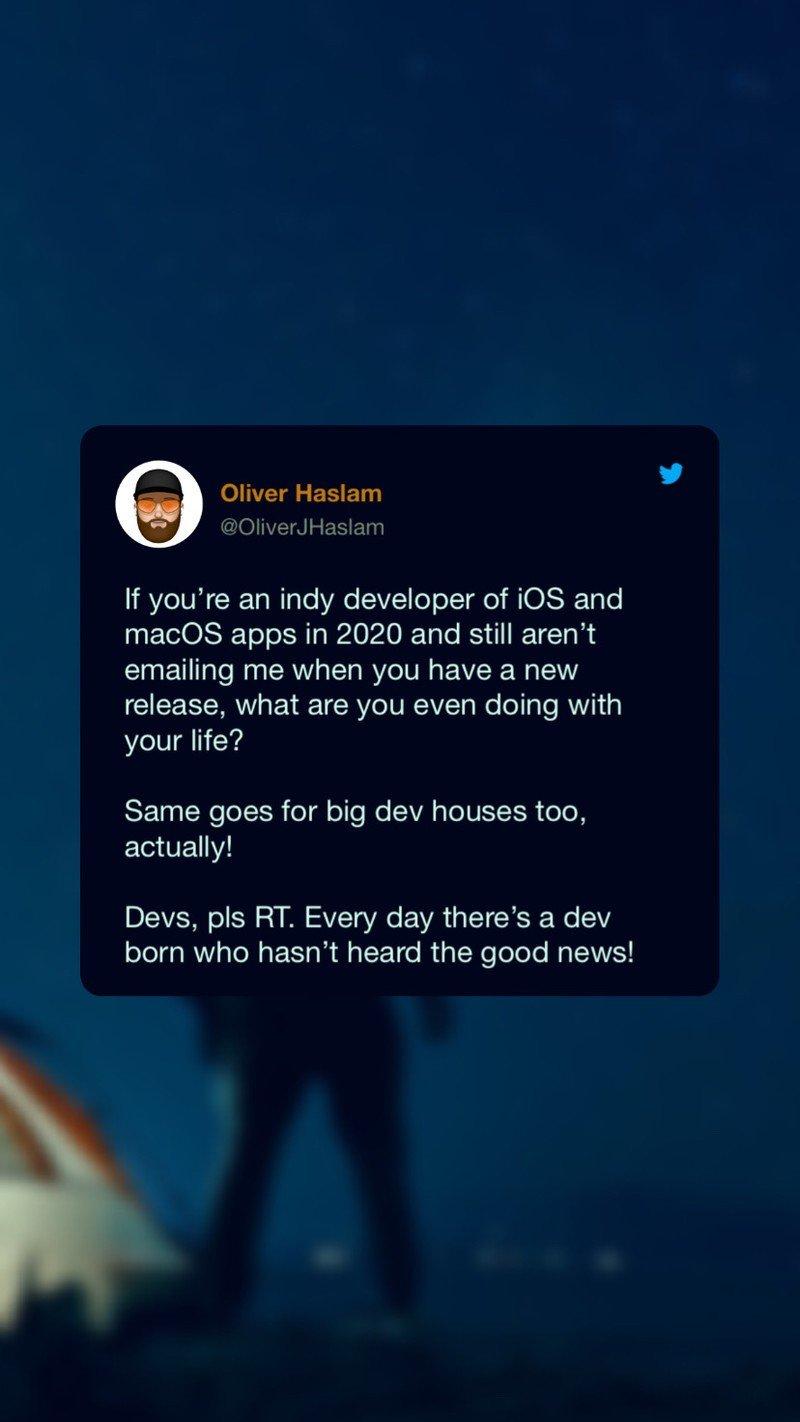 Oliver Haslam Tweetly Example