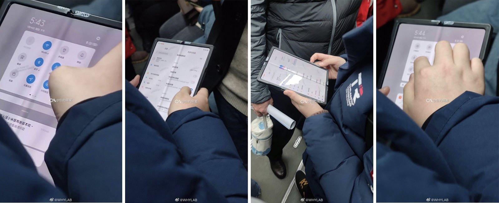 Spyshots of Xiaomi's folding phone concept | Source: Weibo (since removed)