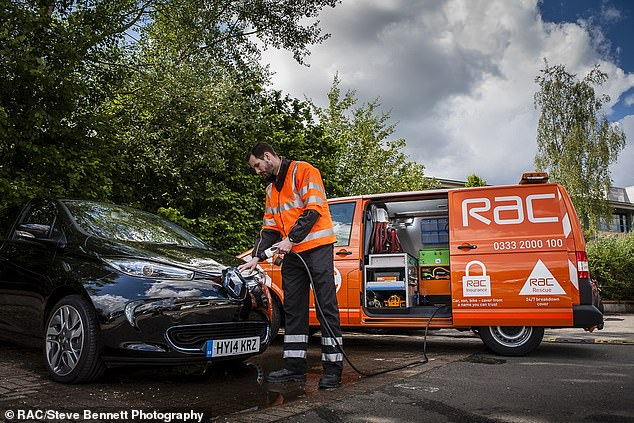 Going automatic: The RAC says many of its vans are now automatic offering improved economy and lower running costs