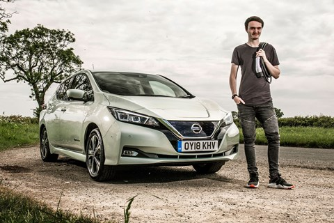 Jake Groves lives with a Nissan Leaf EV
