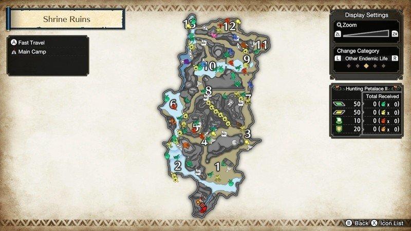 Monster Hunter Rise Endemic Life Locations
