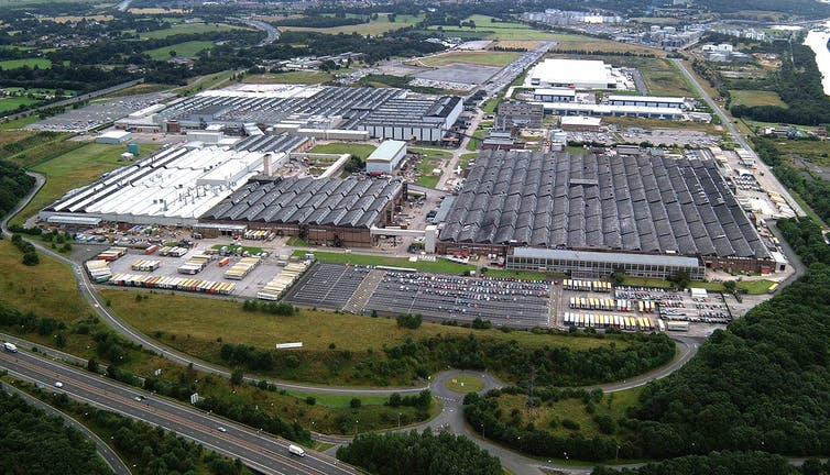 The Vauxhall plant at Ellesmere Port in Cheshire, England.