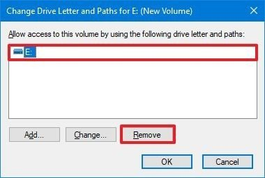 Disk Management unmount drive