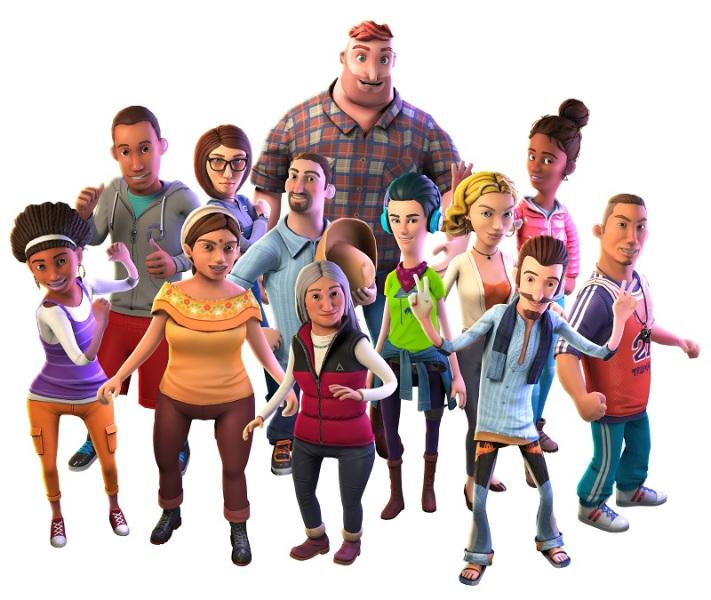 Rival Peak has a dozen characters competing in Survivor fashion.