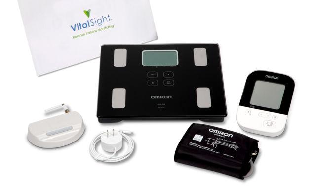 Omron VitalSight remote blood pressure monitoring device.