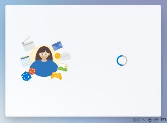 Windows 10X OOBE loading