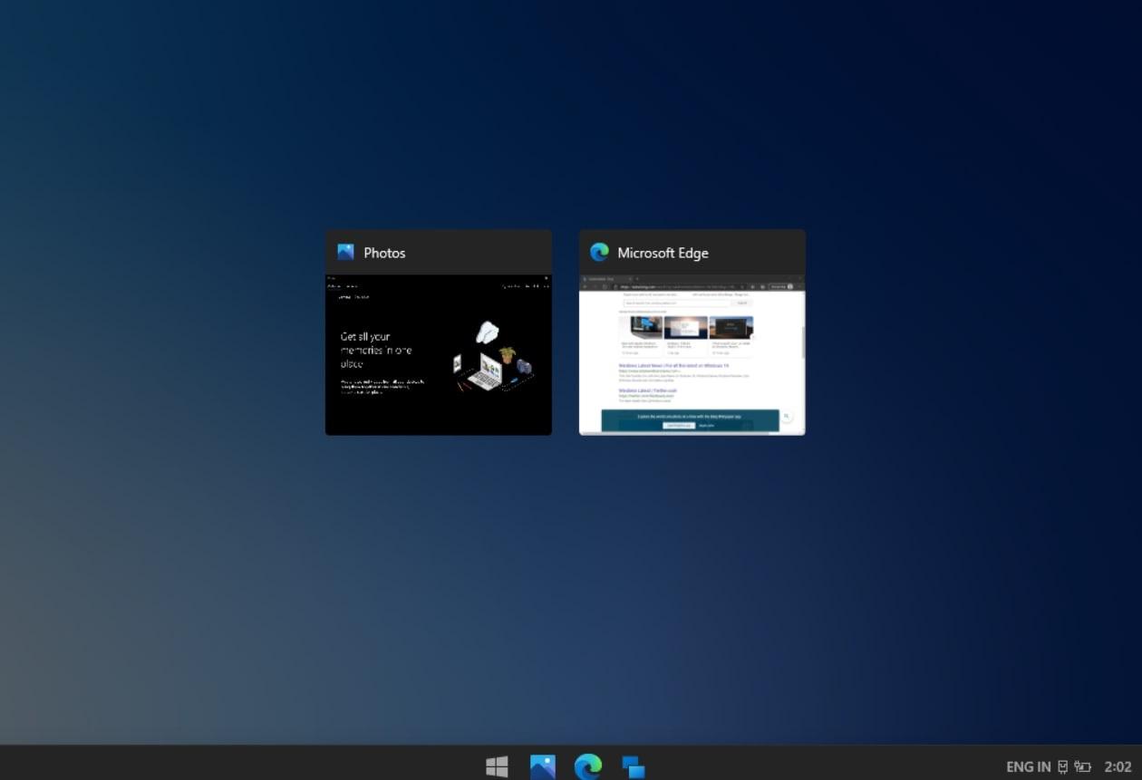 Windows 10X app switch
