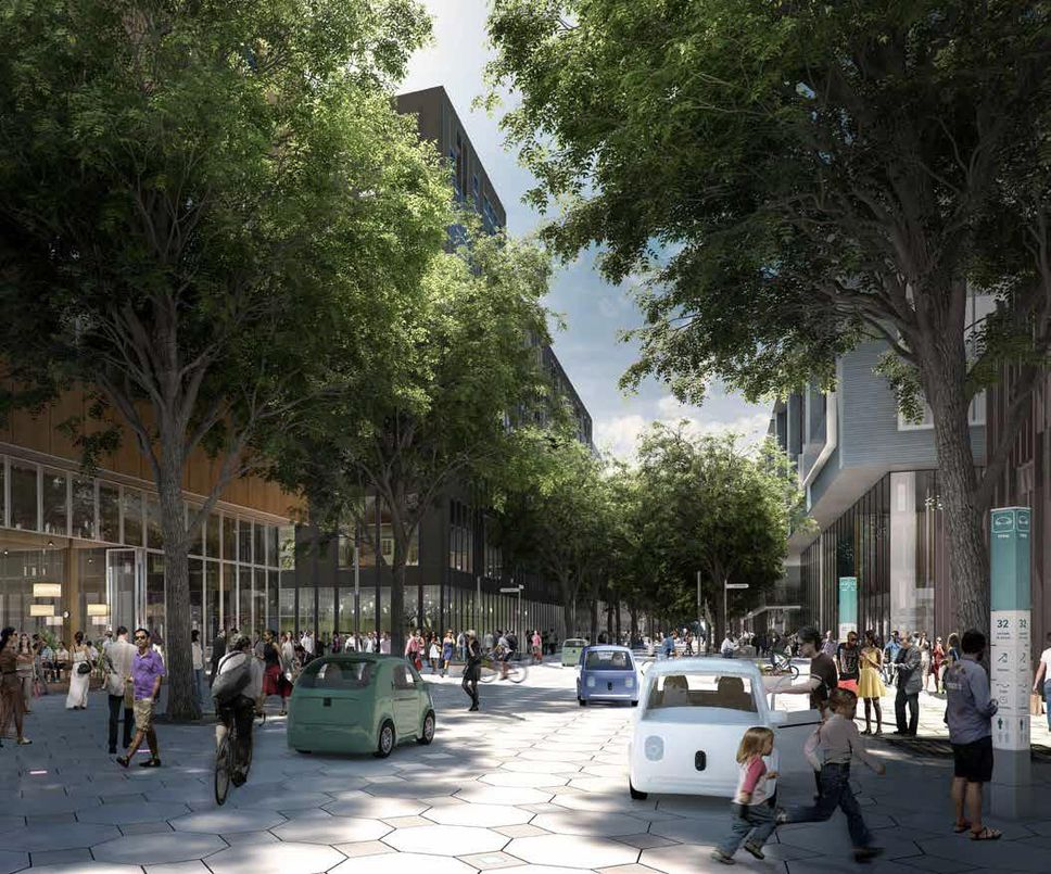 """Sidewalk Labs proposed using outdoor mounts dubbed """"Koalas"""" throughtout the Quayside development, into which its public space sensors could be plugged."""