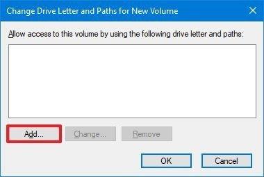 Disk Management add drive letter option