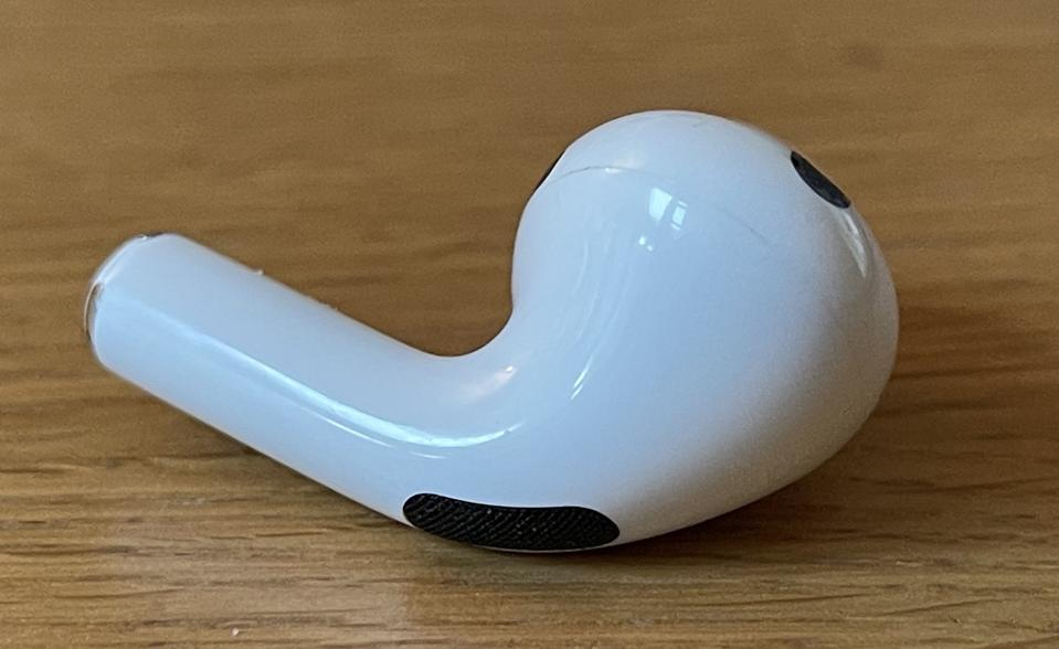 This is an AirPods Pro earbud. But the next AirPods could look strikingly similar.