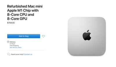 apple refurbished m1 mac mini
