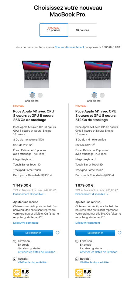 MacBook Pro french scores