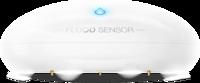 Fibaro Flood Sensor with blue LED indicator light on a white background